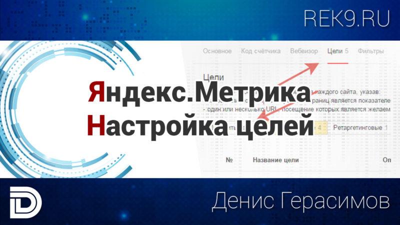 Заставка к видео - Яндекс.Метрика и цели